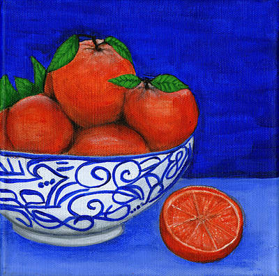 Painting - Still Life With Oranges by Debbie Brown