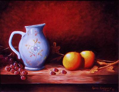 Still Life With Oranges  Art Print by Gene Gregory