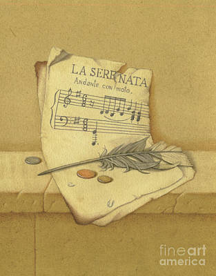Painting - Still Life With Sheet Music by Victor Sap