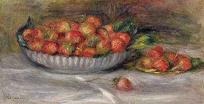 Ceramic Painting - Still Life With Strawberries by Pierre Auguste Renoir