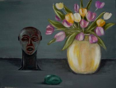 Still Life With Tulips Art Print by Joseph Ferguson
