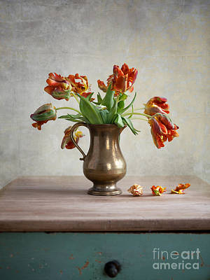 Still Life With Tulips Art Print by Nailia Schwarz