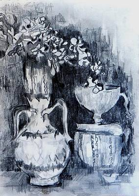 Still Life With Vases Art Print by Jolante Hesse
