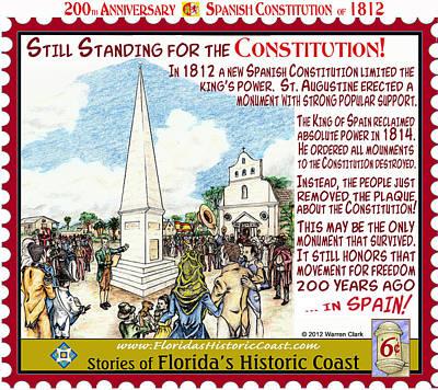 Still Standing For The Constitution Art Print by Warren Clark