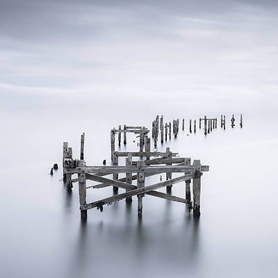 Swanage Pier Photograph - Still Standing by Xose Casal Photography