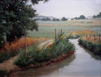 Still Water-irrigation Art Print by Victoria  Broyles