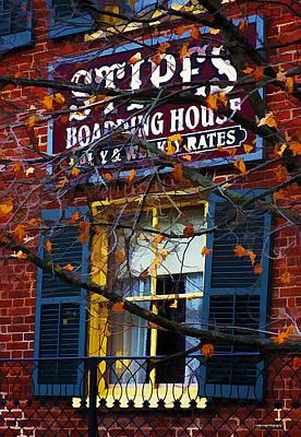 Window Signs Digital Art - Stipes Boarding House by Ron Jones