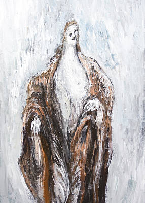 St.john The Baptist Preaching In The Wilderness Art Print by Kazuya Akimoto