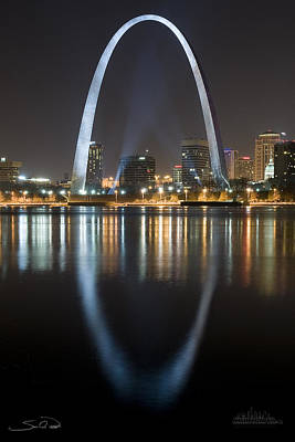 St.louis Arch Reflection Art Print by Shane Psaltis