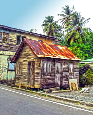 Stlucia - Rusted Shack Art Print by Gregory Dyer