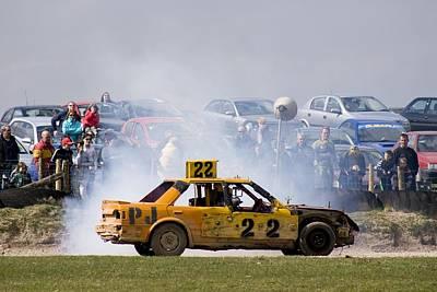 Stock Car Racing Near Appleby, Cumbria Uk Art Print by Mark Williamson
