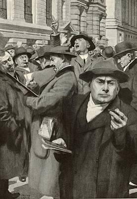 Stock Exchange, New York City Art Print by Mid-manhattan Librarynew York Public Library