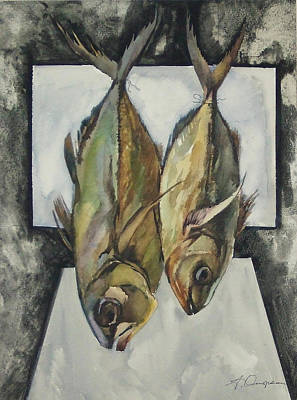 Naturmort Painting - Stockfish by Alexandr Ostrovsky