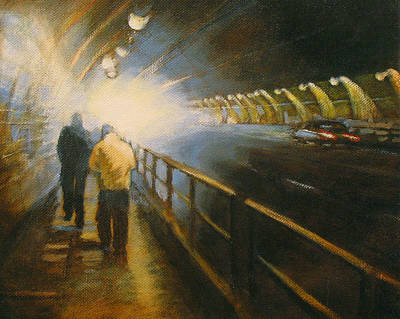 Stockton Painting - Stockton Tunnel by Meg Biddle