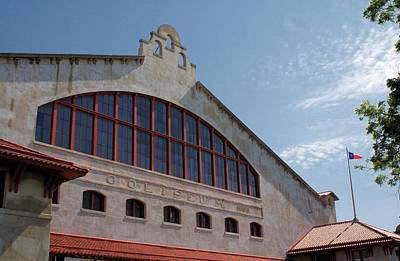 Photograph - Stockyards Coliseum by Lynnette Johns