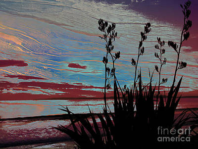 Kiwi Digital Art - Stolen Sunset by Karen Lewis