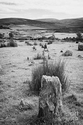 Megalith Photograph - stone alignment at Aughlish stone circles county derry londonderry  by Joe Fox