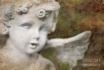 Marble Eyes Digital Art - Stone Angel by Dolly Genannt