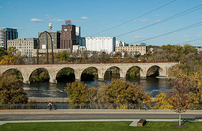 Up201209 Photograph - Stone Arch Bridge Five by Josh Whalen