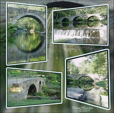 Photograph - Stone Arch Bridge-kenoza Lake-catskill Mtns Ny by EricaMaxine  Price