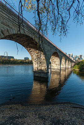 Up201209 Photograph - Stone Arch Bridge One by Josh Whalen