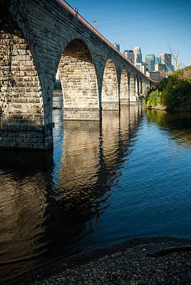 Up201209 Photograph - Stone Arch Bridge Two by Josh Whalen