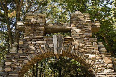 Fieldstone Photograph - Stone Archway At The Entrance by Todd Gipstein