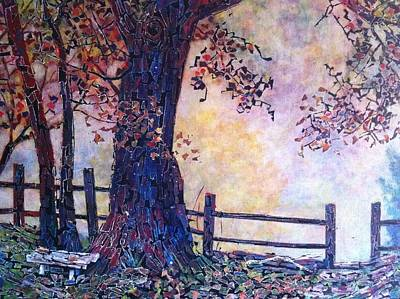 Acryllic Painting - Stone Bench by Michael Koerber