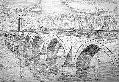 Drawing - Stone Bridge by Ana Leko Nikolic