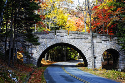 Carriage Road Photograph - Stone Bridge In Acadia by George Oze
