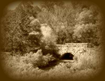 Photograph - Stone Bridge In Sepia by David Dunham