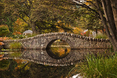 Photograph - Stone Bridge Reflection by Graeme Knox