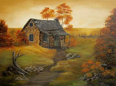 Painting - Stone Cabin by Kathy Sheeran