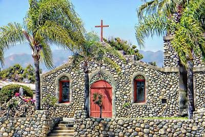 Religious Artist Digital Art - Stone Chapel by Michelle Frizzell-Thompson