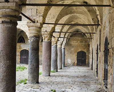 Stone Columns And Doors Of Khan Al-umdan Art Print
