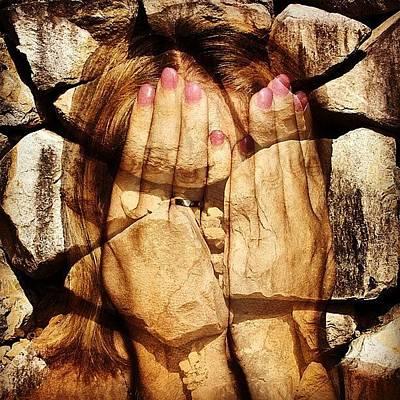 Girl Photograph - Stone Face by Cameron Bentley