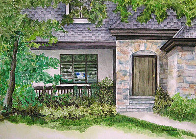 Painting - Stone House by Paula Nathan