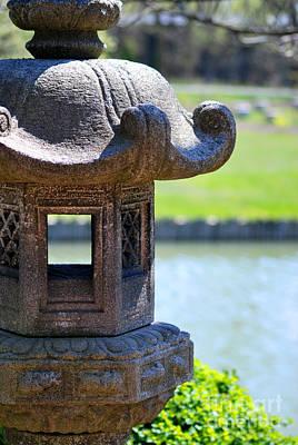 Fathers Day 1 - Stone Lantern by Nancy Mueller