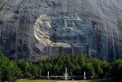 Stone Mountain   The Carving Art Print by George Bostian