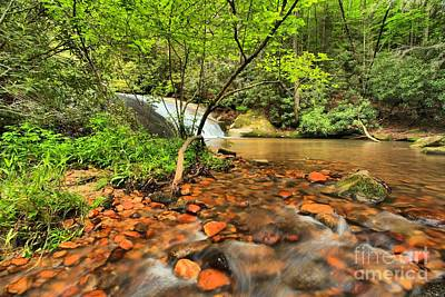 Photograph - Stone Mountain Lower Falls by Adam Jewell