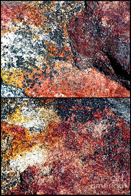 Photograph - Stone On Stone Diptychs by Ken Frischkorn