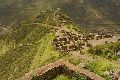 Stone Ruins At Pisac National Park,sacred Valley Of The Incas Art Print by Ralph Hopkins