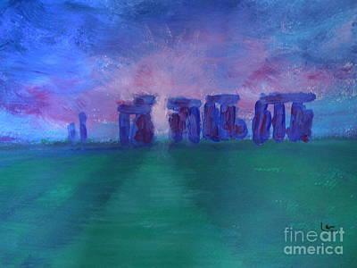Stonehedge Sunrise England Art Print
