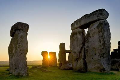 Megalith Photograph - Stonehenge At Sunrise by David Nunuk