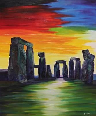 Gustavo Oliveira Painting - Stonehenge IIi by Gustavo Oliveira