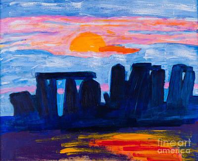 Celtic Art Painting - Stonehenge In Uk by Simon Bratt Photography LRPS