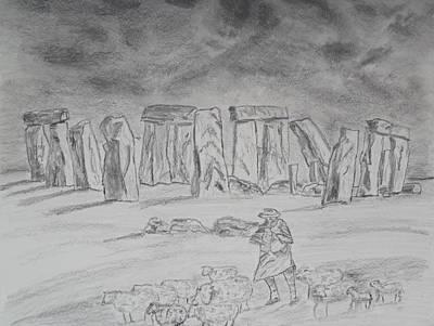 Stonehenge Study Art Print