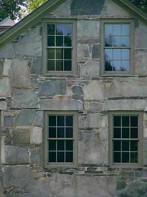 Photograph - Stonehouse Windows by Nancy Griswold