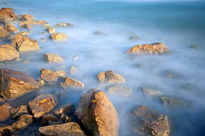 Y120831 Photograph - Stones In Sea by Michele Berti