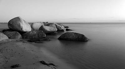 Stones In The Sea 2 Print by Falko Follert